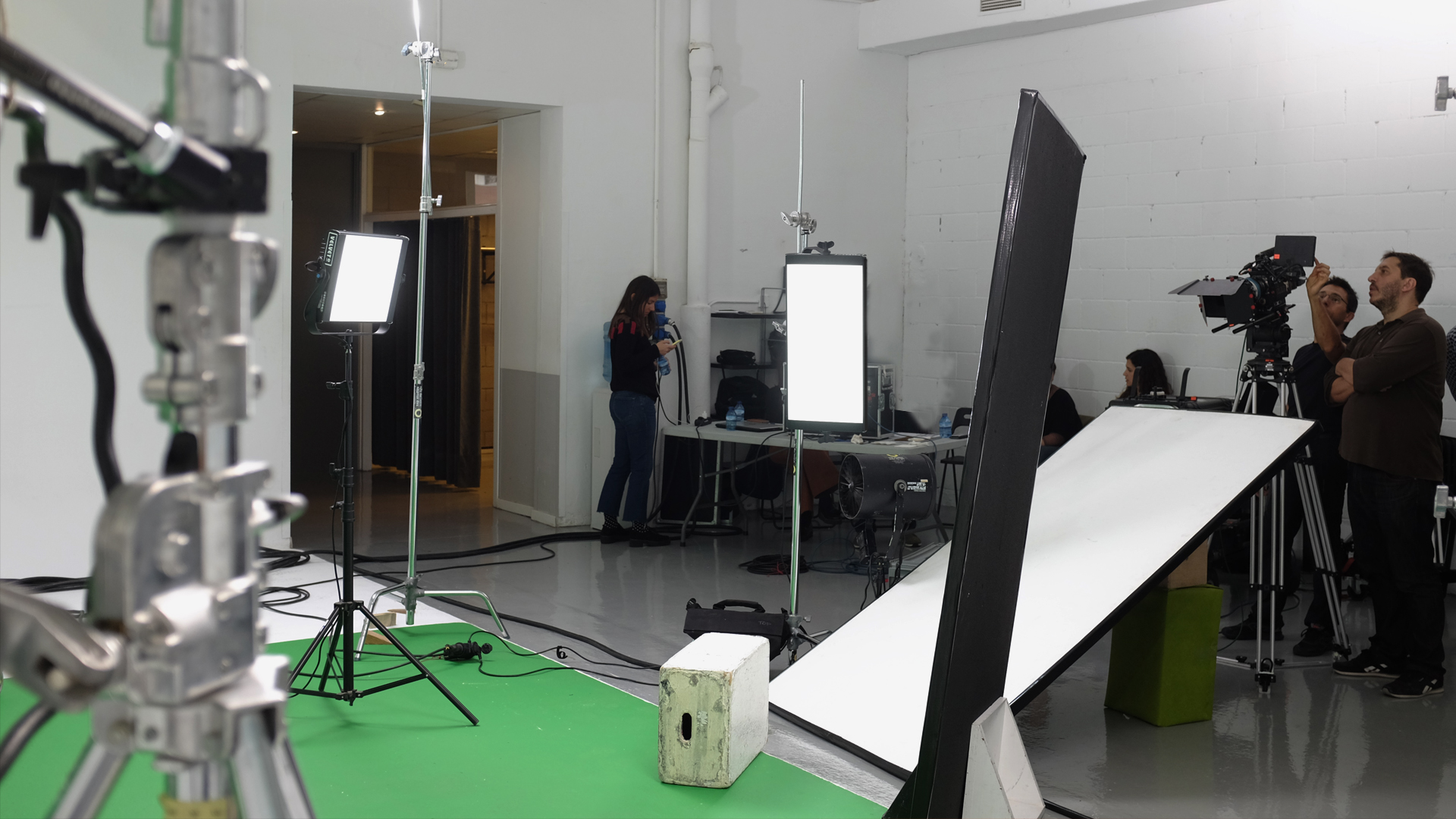 lighting in film production All the lighting tools found in a decently equipped video production studio have direct relatives (usually just larger, brighter and more expensive) in a film production studio electricity [ edit ] every lighting fixture uses electricity.
